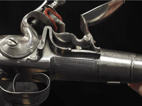 Silver Clad Queen Anne Pistols