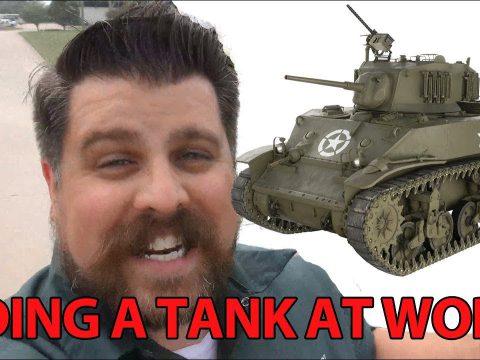 Riding in an M5A1 Stuart Tank!