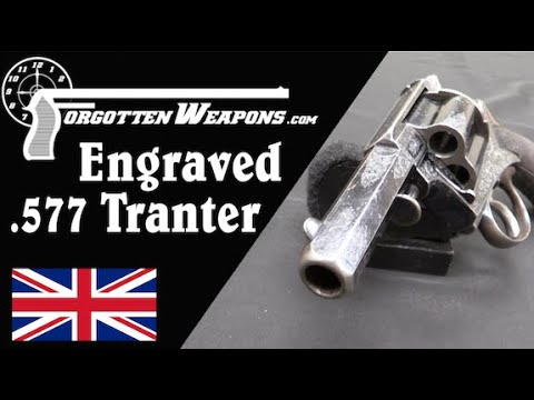 Engraved Tranter 577-Caliber Hand Cannon