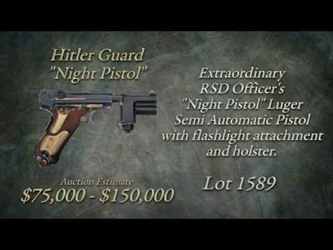 "Watch The Sale of Lot 1589 – Sale of the Hitler Guard ""Night Pistol"""