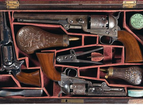 Historic Cased Triple Set Documented to Colonel Samuel Colt