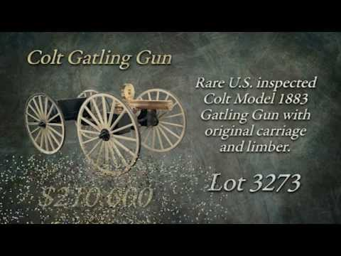 Watch The Sale of Lot 3273 Colt Gatling Gun Selling at the April 2012 Firearms Auction