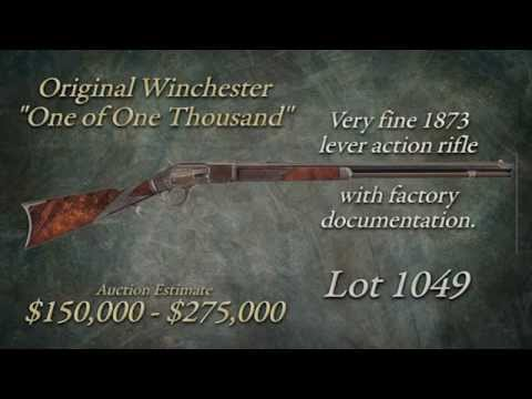 "Watch The sale of Lot 1049 – Original Winchester ""One of One Thousand"""