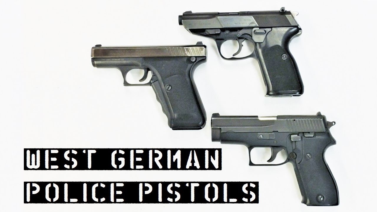 West German Police Pistols – Walther P5, SIG Sauer P6, Heckler & Koch P7