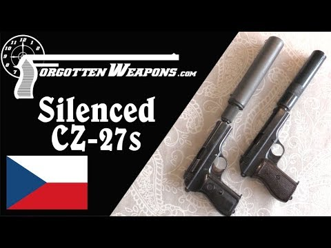 Polish and German Police Silenced CZ-27 Pistols