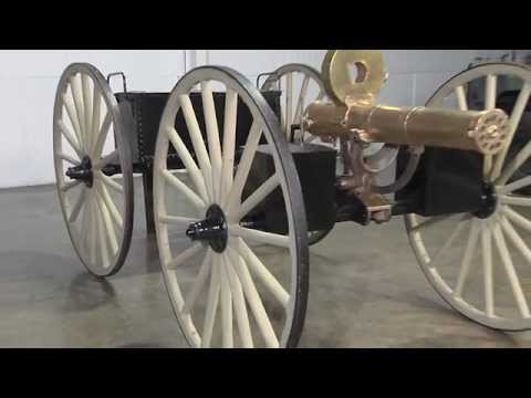 Original Colt M1883 Gatling Gun with Caisson