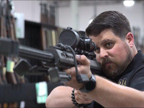 Warehouse Stroll with Joel: How Long Can Joel Shoulder a Barrett Sniper Rifle?