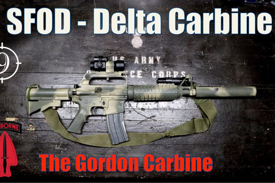 Gordon's Carbine [Black Hawk Down] – The Delta Colt 723 – 733 (suppressed)