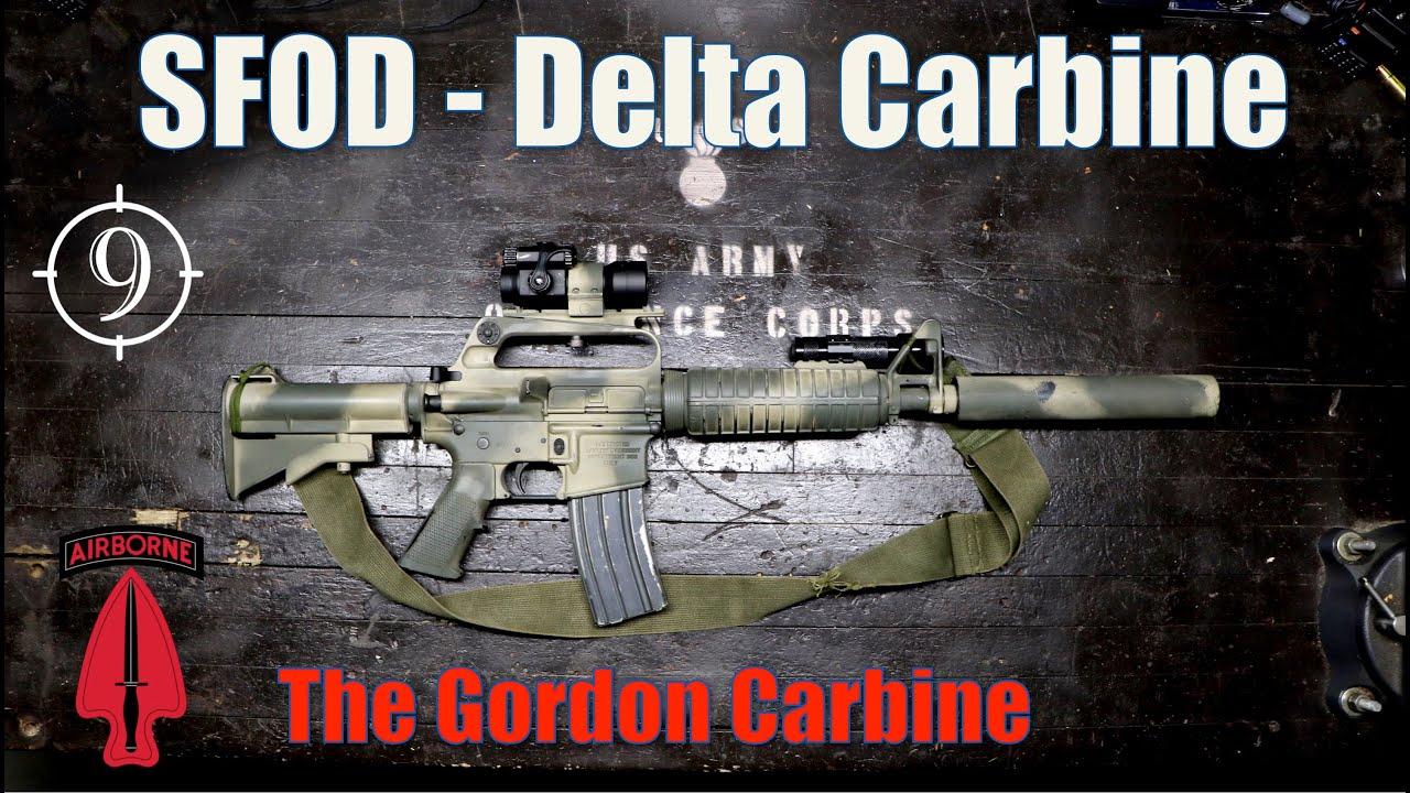 Gordon's Carbine [Black Hawk Down] – The Delta Colt 723 – 733 (suppressed)