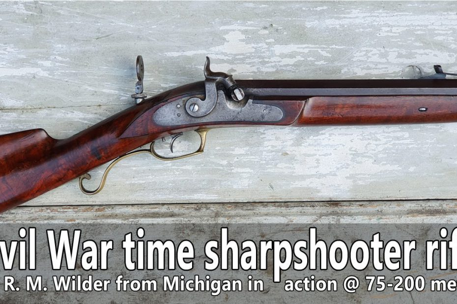 Shooting the original American percussion sharpshooter rifle 75-200m