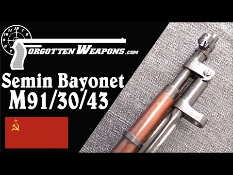 Trials Soviet M91/30/43 Mosin – Semin's Folding Bayonet