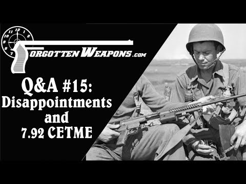 Q&A #15: Disappointing Guns, 7.92×41 CETME, and 1873 Revolvers
