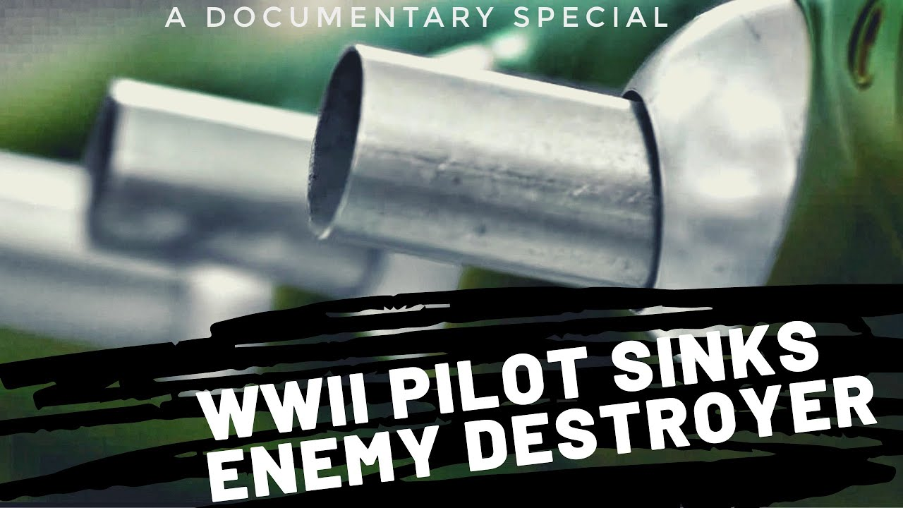 WWII P-40 fighter pilot- Major Gatling sinks enemy Destroyer 1943 *HDR Documentary Special* (2:30)