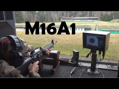 Sighting-in an M16A1, 9-million series, blocked at semi auto