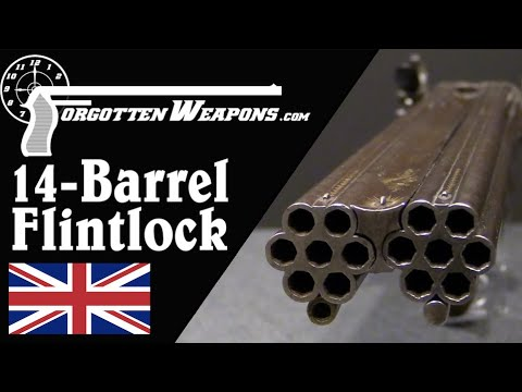 Perdition to Conspirators! Magnificent 14-Barrel Flintlock
