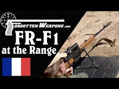 French FR-F1 Sniper Rifle at the Range
