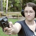 Mae Fires the British Webley Mk V