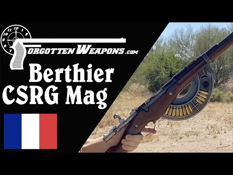 Berthier with a Chauchat Magazine at the Range
