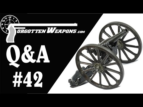 Q&A 42: Books, Machine Guns, Cannons, and Forgotten Weapons by Mail
