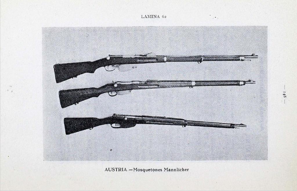 Captured Mannlicher rifles