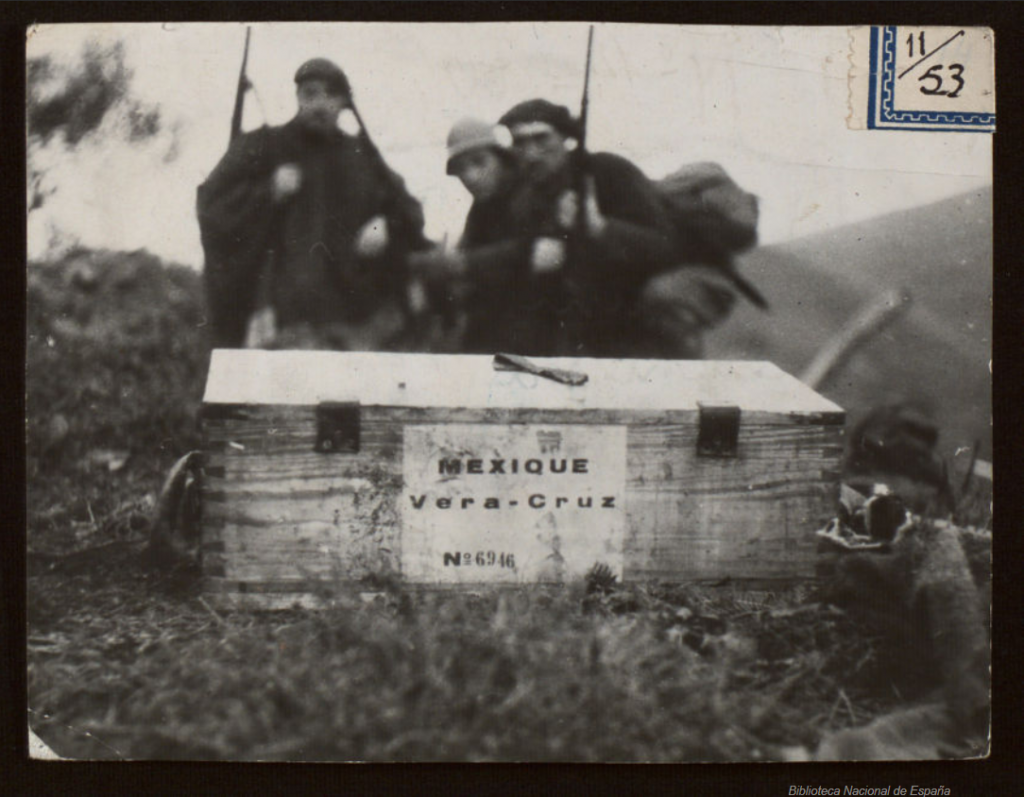 A Mexican-marked crate