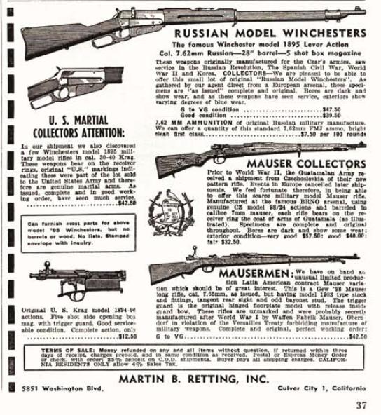 Guns Magazine ad copy, March 1957