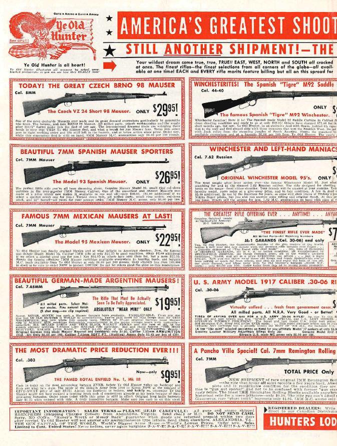 Guns Magazine August 1960 ad copy, 1