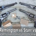Original Civil War revolvers vs original cartridges: Colt Army, Remington, Starr, Adams