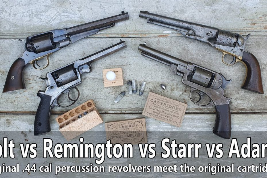 Original Civil War revolvers vs original cartridges: Colt Army, Remington, Starr, Adams