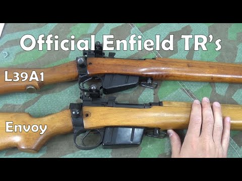 Official Enfield-made 7.62mm / 308 Win Target Rifles: L39A1, No4. 7.62 CONV and Envoy