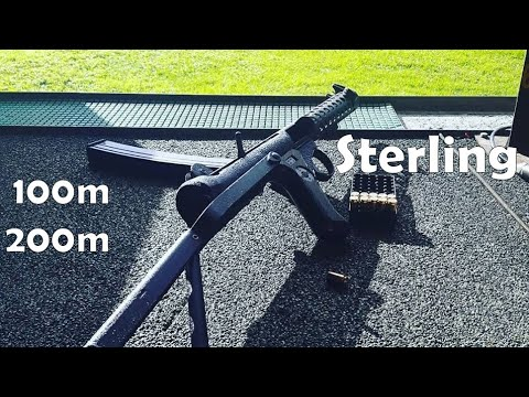 9x19mm Sterling Mk.4 / L2A3 SMG at 100m and 200m