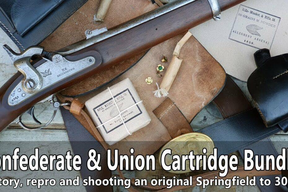 Making Civil War cartridge bundles and shooting an original Springfield rifle musket to 300 m