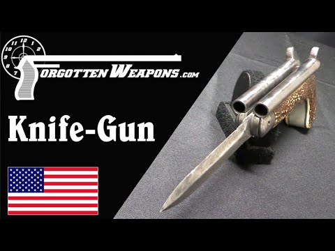 Double Barrel Folding Knife Pistol