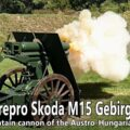 Firing a repro Skoda 7,5 cm M15 Gebirgskanone (mountain gun)