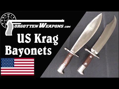 Bowie Knife Bayonet and Bolo Bayonet for the US Krag