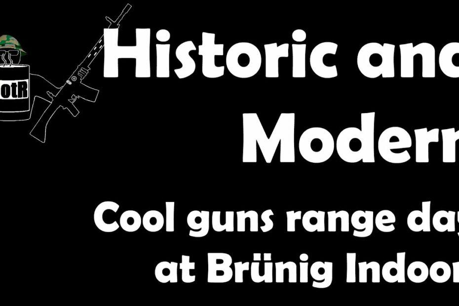 Historic and Modern: Range day at Brünig Indoor