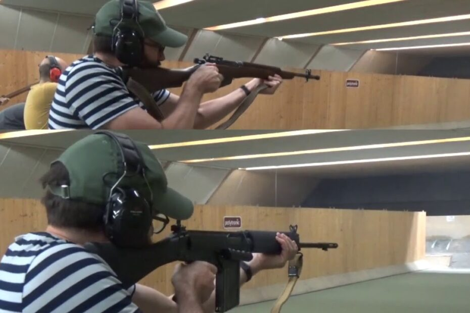 Bloke shoots a No.5 Lee-Enfield faster than an L1A1 SLR / FAL at about 20m…
