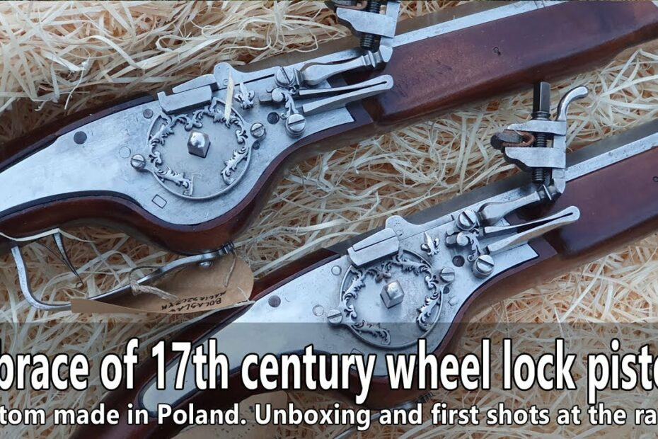 Unboxing a brace of 17th century wheel lock pistols and the first shots