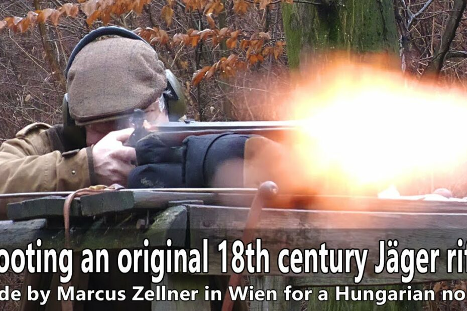 Shooting an original 18th century hunting rifle