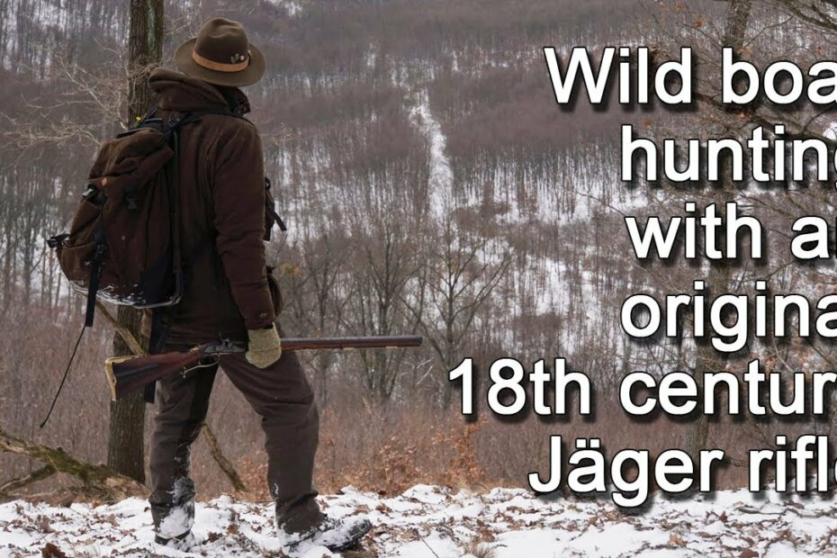 Wild boar  hunnting with an 18th century rifle