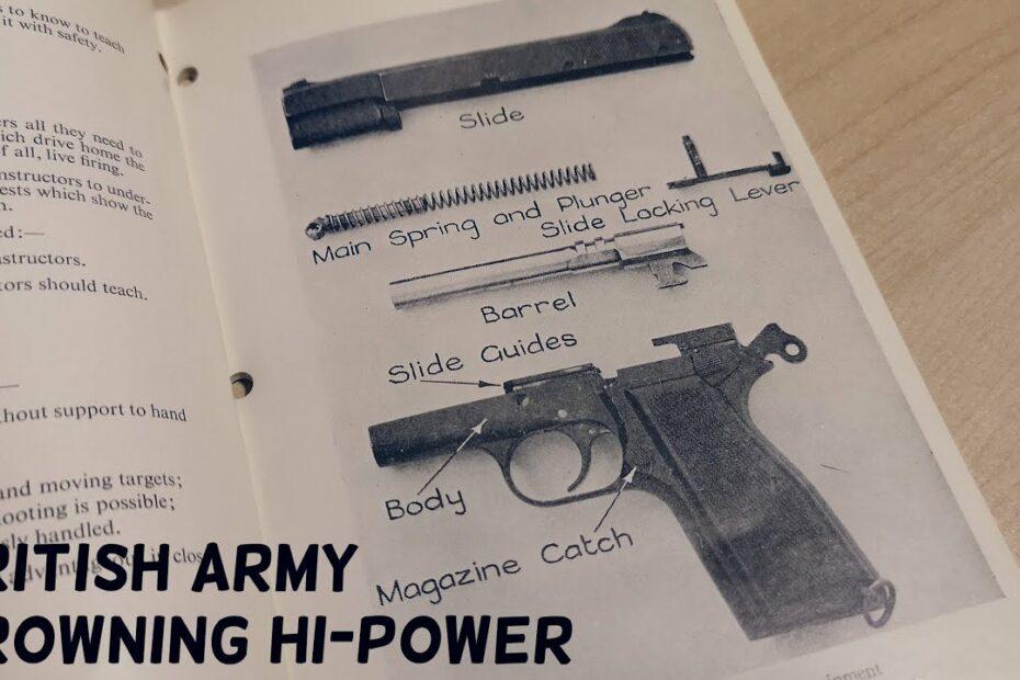 British Army Browning Hi-Power Pamphlet #Shorts
