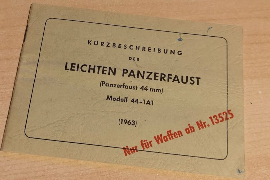Panzerfaust 44 Manual #Shorts