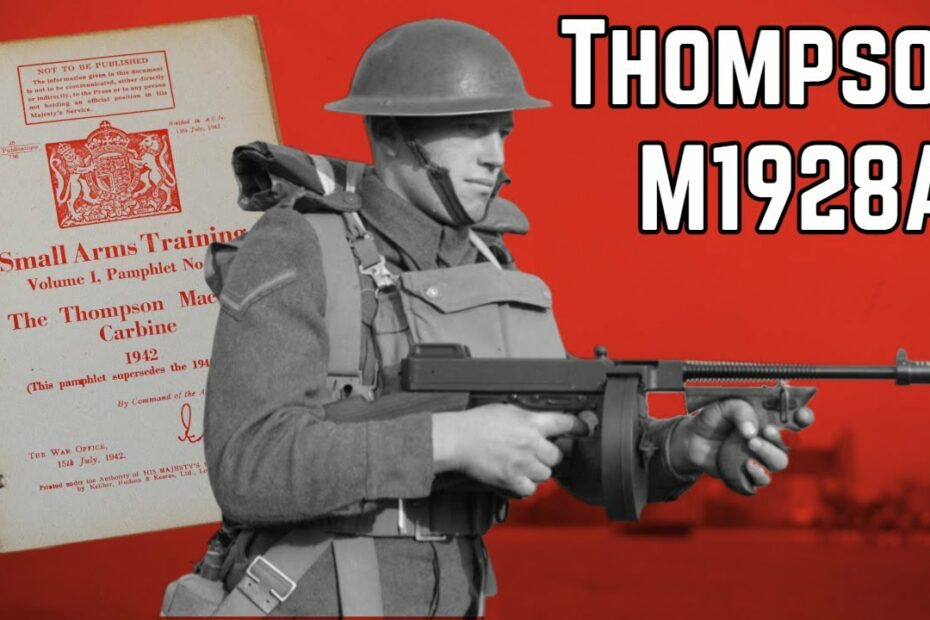 WW2 British Army Thompson Submachine Gun Manual