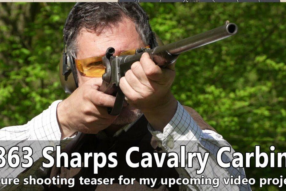 Original 1863 M Sharps breach loading cavalry carbine – pure shooting