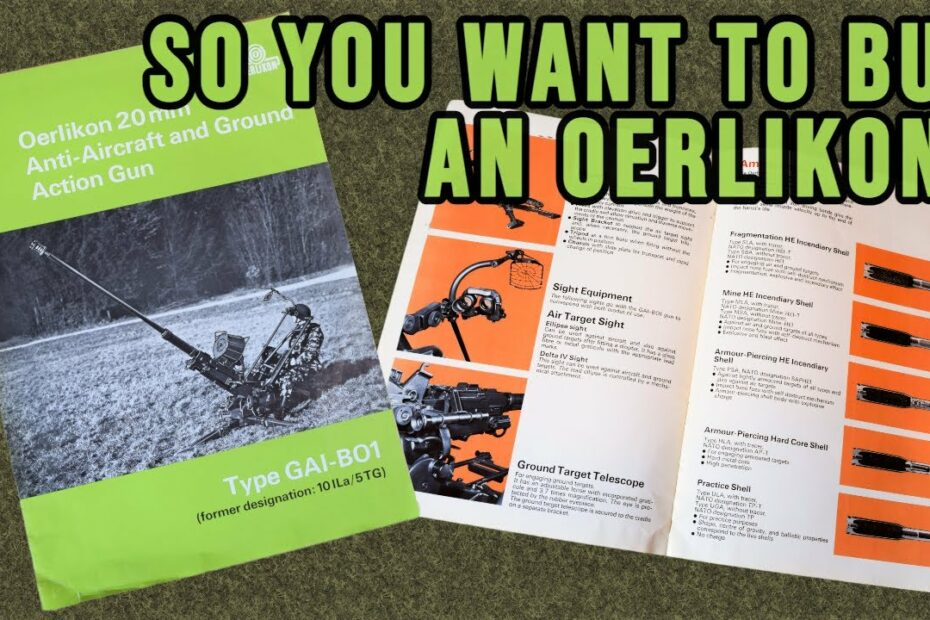 So You Want To Buy An Oerlikon?