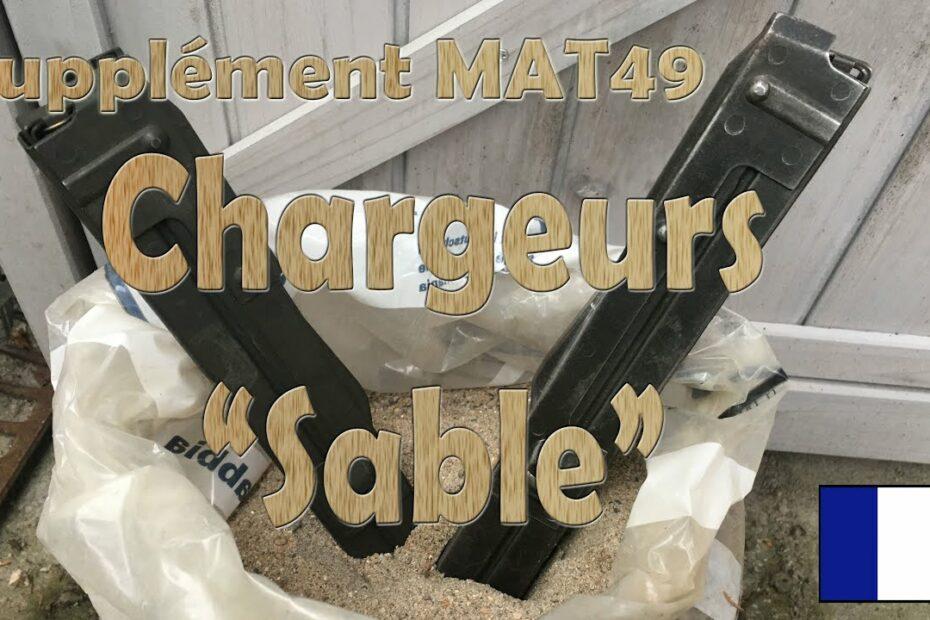 """Chargeurs """"sable"""" pour MAT 49"""