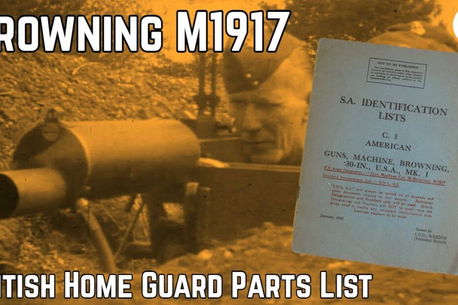 British Home Guard Browning M1917 Booklet