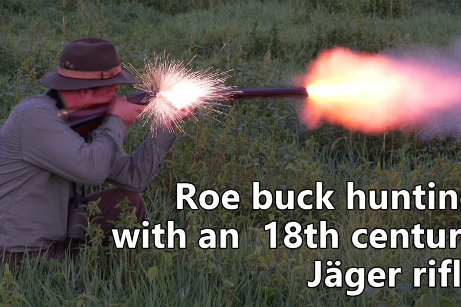 Roe buck hunting with an 18th century muzzle loading rifle