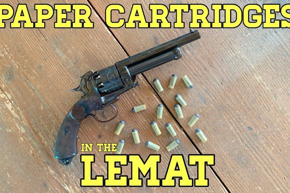 LeMat Revolver: Shooting Paper Cartridges