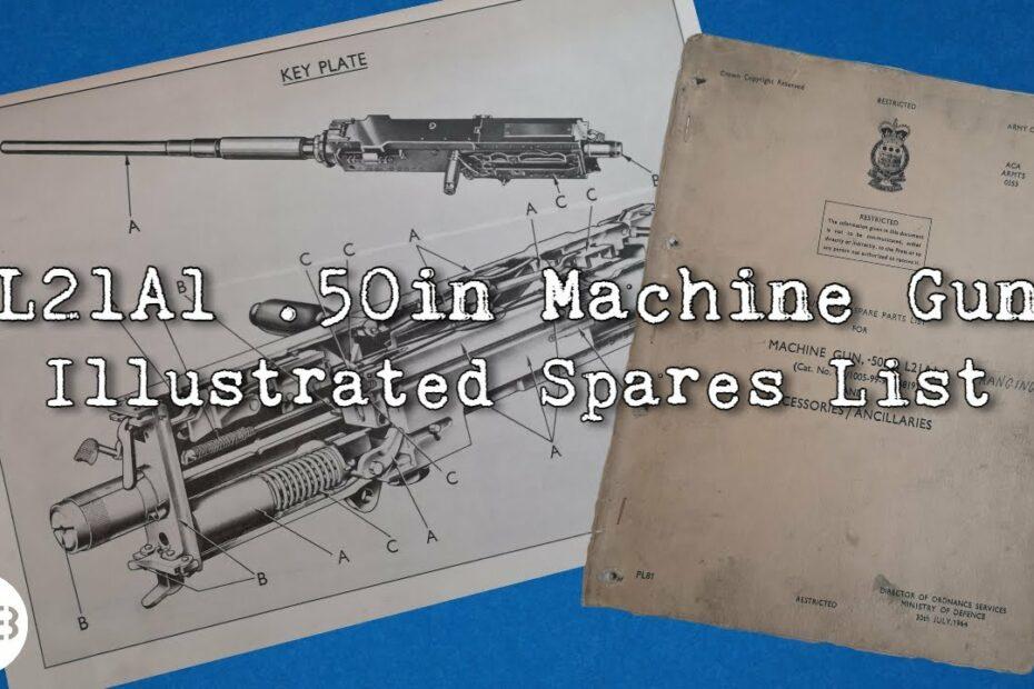 L21A1 .50 Calibre Machine Gun – 1960s Illustrated Spares List